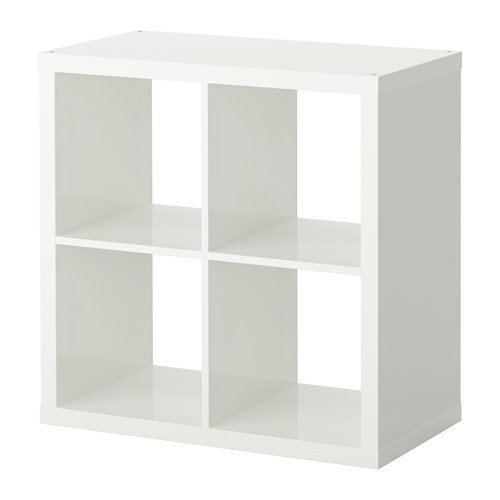 Ikea KALLAX estantería de Pared Blanco Brillante; (77 x 77 cm); Compatible con EXPEDIT