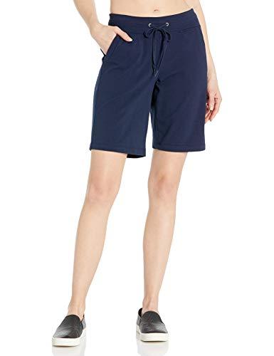 Danskin Women's Essential Bermuda Short, Midnight Navy, L