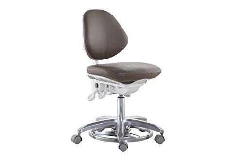 Eerste tandheelkundige geïmporteerde genaaid PU stof Dokter stoel voet gecontroleerde tandheelkundige medische stoel Dynamische Kruk DS-FC