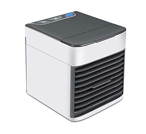 DOUYUAN Refrigerador de Aire portátil Mini Aire Acondicionado 7 Color LED USB Espacio Personal Fan del Enfriador (Color : White)