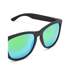 HAWKERS Carbon Gafas de sol, Negro/Verde esmeralda, One Size Unisex Adulto