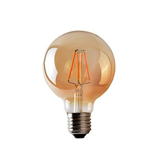 3W G80 E27 Luz LED Bombilla LED Retro Edison Clear Amber Cover...
