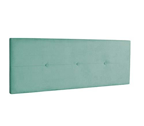 DHOME Cabecero de Polipiel o Tela AQUALINE Pro cabeceros Cabezal tapizado Cama Lujo (Tela Verde Agua, 145cm (Camas 120/135/140))