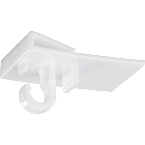LEMAX® Ceiling-Clip, zum Einhängen an T-Schiene PVC 19 x 30 mm 10 Stück/Packung   Haken   Deckenhaken   Deckenbefestigung