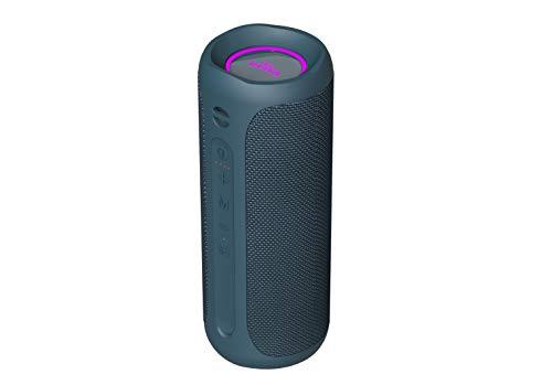 Altavoz Goody 2 de Vieta Pro, con Bluetooth 5.0, True Wireless, Micrófono, Radio FM, 12 Horas de batería, Resistencia al Agua IPX7, Entrada Auxiliar y botón Directo al Asistente Virtual; Color Azul.