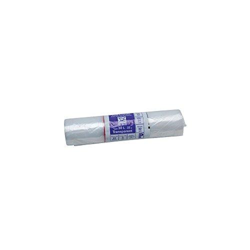 Sac poubelle transparent - 30 L - 22 microns - x50
