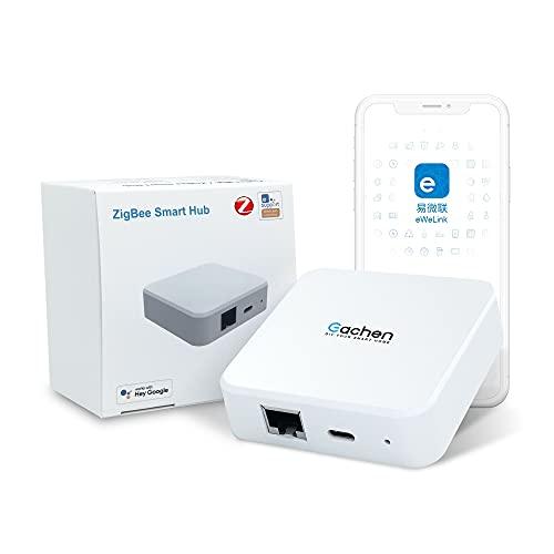 eWelink ZigBee Bridge ZBBridge Pro, WiFi Gateway Wireless Smart Bridge, Smart Gateway Hub, APP-Fernbedienung, Kompatibel mit Alexa Google Home, Verbindung mit Allen ZigBee 3.0 Smart Devices