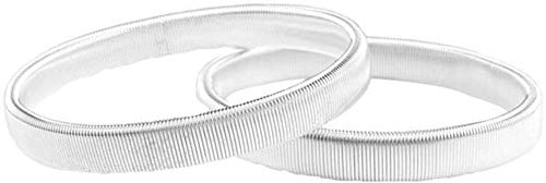 CVERY Armband aus Metall, rutschfest, für Herren, langlebig, elastisch, Geschenk, Manschette, Kleidung, Zubehör, Frühlingsarmband, Barkeeper, 2 Stück, silberfarben