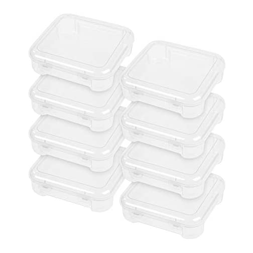 """IRIS USA 8"""" x 8"""" Slim Portable Project Case, 10 Pack, Clear, Holds 8""""x8"""" Paper 