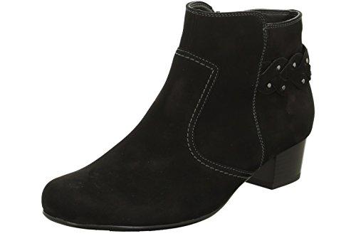 Jenny Damen Stiefelette Catania 22-63678-71 schwarz, Gr. 36-41, Nubukleder, Weite H, Damen Größen:37;Farben:schwarz