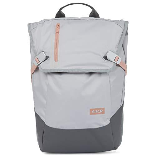 AEVOR Daypack - erweiterbarer Rucksack, ergonomisch, Laptopfach, wasserabweisend - Slant Blush - Grau