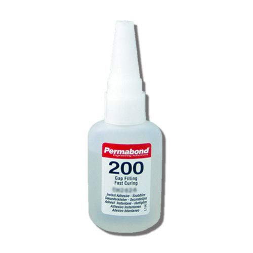 Permabond 200 (1oz Bottle) Instant Adhesive-Fast-Set Thick General Purpose, Great for Plastic & Rubber