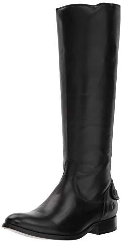 Frye Women's Melissa Button Back Zip Knee High Boot, Black, 6.5