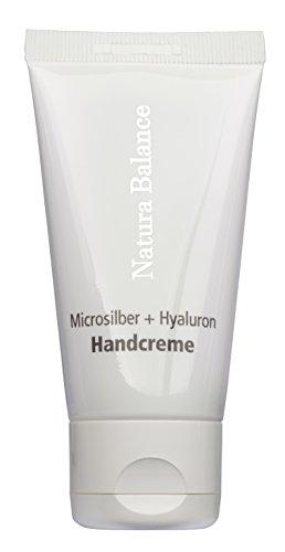 100ml Handcreme Microsilber + Hyaluron Microsilver Hyaluronsäure Vitamin E Panthenol Mikrosilber Silber vegan