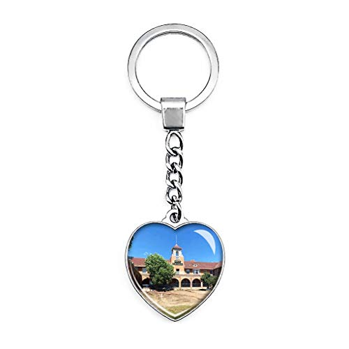 Las Vegas Hotel New Mexico Keychain Creative Double Sided Heart-shaped Crystal Key Chain Travel Souvenir Metal