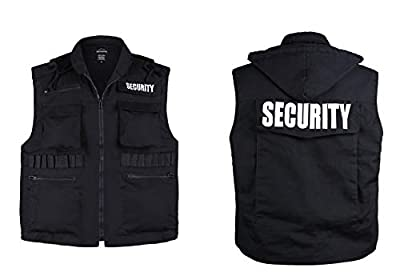 BACKBONE Mens Womens Unisex Army Style Uniform Security Vest - Black -Size S, M,L,XL,2XL from BACKBONE