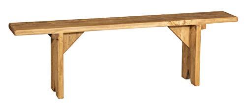 Biscottini Banc en bois massif de tilleul finition naturelle Made in Italy L160XPR25XH50 cm