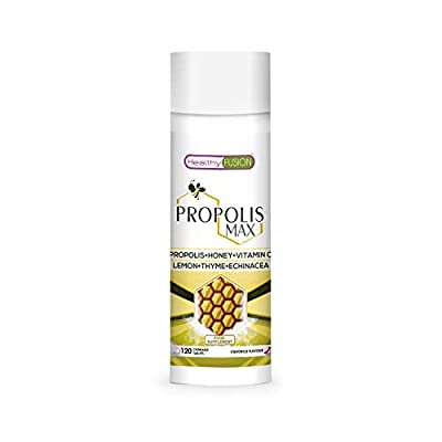 Pure Propolis + Honey + Vitamin C + Thyme + Echinacea | Protects The defences and avoids the Flu and Colds | Powerful Natural Antibacterial and Anti-inflammatory - 120 Tablets