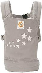 Ergobaby Mochila Portamuñecas de Juguete para Niños Pequeños, Estilo Galaxy Gris, Porta Muñecas 100% Algodón