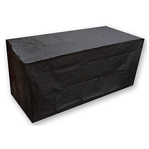 CXJYBH Schwarzer wasserdichter Rattan Cube Outdoor Garden Patio Möbel Set Abdeckung Schutz 205x104x71cm Abdeckung FüR GartenmöBel