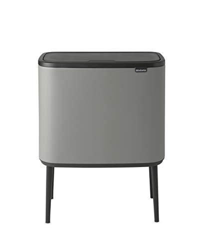 Brabantia Bo Touch Bin Cubo de basura 11 + 23 l, color mineral Concrete Grey