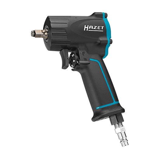HAZET Druckluft-Schlagschrauber (extra kurz (92 mm), max. Lösemoment 461 Nm, Vierkant 10 mm (3/8 Zoll), empfohlenes Drehmoment 375 Nm, Jumbo Hammer-Schlagwerk) 9011M