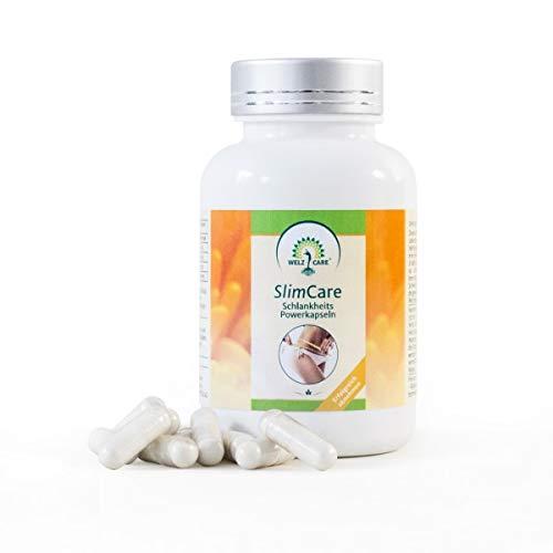 SlimCare Powerkapseln 500mg (120 Veggie-Caps) Konjak-Wurzel Glucomannan Kapseln zum Abnehmen, Sättigungskapseln natürlich abnehmen die Diät-Pille für gesunden Gewichtsverlust