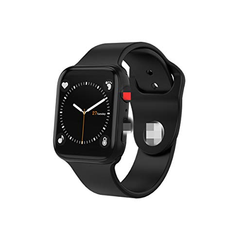 Intelligente Uhr,1.54In Iwo Kabelloses Laden Bluetooth Anruf Herzfrequenz Blutdrucktest Fitness Tracking Uhr I6 Plus Smartwatch Für Männer Frauen Für Ios Android,Black