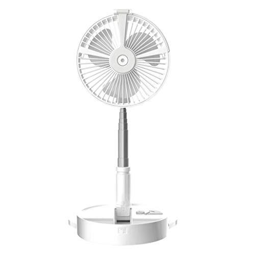 UKtrade Ventilador telescópico plegable recargable con humidificador y soporte para teléfono