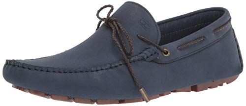 Tommy Hilfiger Men's Arias2 Driving Style Loafer, Dark Blue, 10