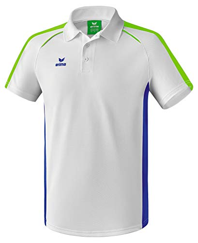 Erima Masters Polo Homme, Blanc/Mazarine Blue, FR : S (Taille Fabricant : S)