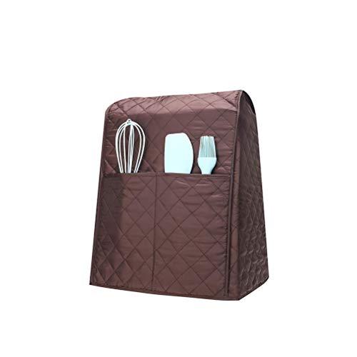 Abdeckung für Standmixer, staubdichte Abdeckung mit Organizer-Taschen, Schutzabdeckung für Mischpult, passend für alle Kippkopf- und Schalenhebemodelle (braun)