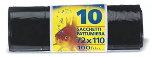 Set 24 PETER vuilniszakken zwart 72 x 110 Nyl Pesan 10P rood sparrengiene en reiniging van huis
