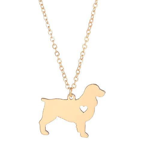 n a Statement Schmuck Gold Silber Englisch Springer Spaniel Halskette Benutzerdefinierte Hundeketten Dog Memorial Geschenk Rescue