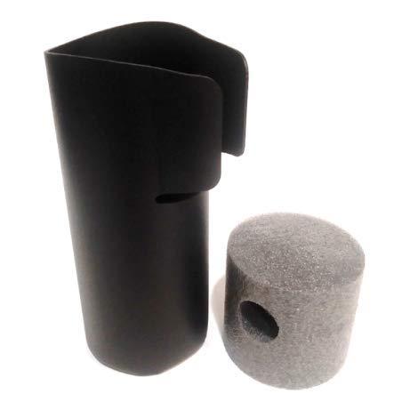 Garage Door Eye Sensor Shield Cover Protector Kit. Protects Door Sensors & Blocks Sunlight to Prevent False Signals. Fits Chamberlain LiftMaster Craftsman (Two Door Kit - Black)