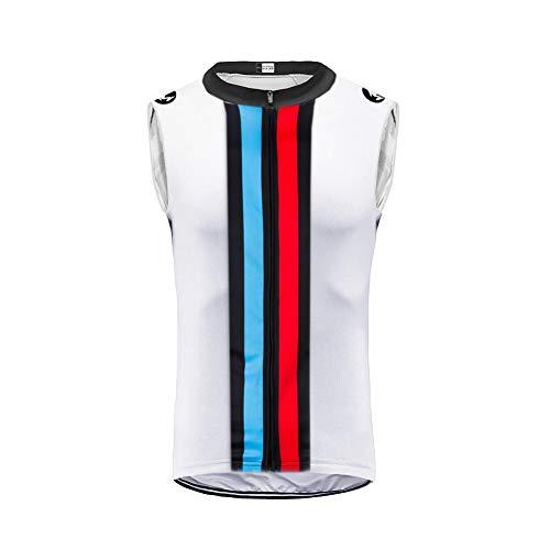 Uglyfrog Maglia Ciclismo MTB Senza Maniche da Uomo Traspirante Asciugatura Veloce Elastico Full Zipper Durevole Maglietta Elegante alla Moda Gilet HI2019VJ03