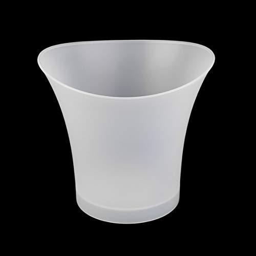 MEILUAIMU Enfriadores y Soportes de Cubos de Hielo LED de plástico Impermeable 5L Barras Intermitentes Luminosas Fiesta Nocturna Protección del Medio Ambiente Ecológico