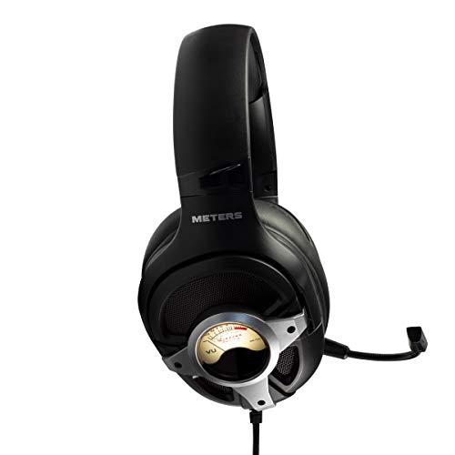 METERS (ミーターズ) VU メーター搭載 7.1サラウンド USB接続 ゲーミングヘッドセット M-LEVEL-UP-SILVER 【日本正規代理店保証品】