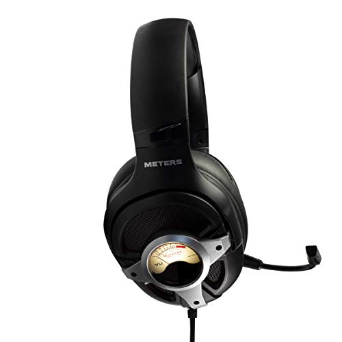 Metri M-LEVEL-UP, cuffie da gioco, suono surround 7.1, microfono staccabile, potenti driver da 50 mm, telecomando in linea, RGB personalizzato luminoso e unico VU Meter, compatibile con PC, PS4 e Xbox