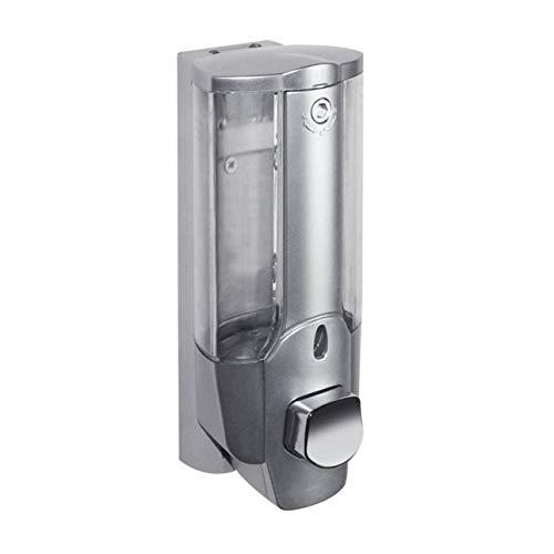 Ballylelly Dispensador de champú manual de ducha desinfectante de jabón de montaje en pared de 350 ml con cerradura de una sola cabeza para baño