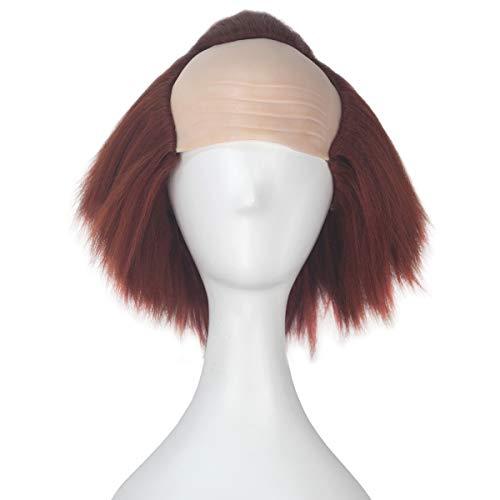 iCos Synthetic Brown Creepy Clown Wig Men Boy Bald Wig Halloween Party Cosplay Wig Adult
