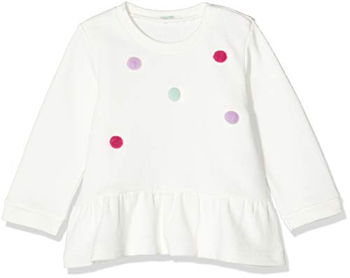 United Colors of Benetton Folk BB G4 Sudadera, Blanco (Bianco Panna 074),...