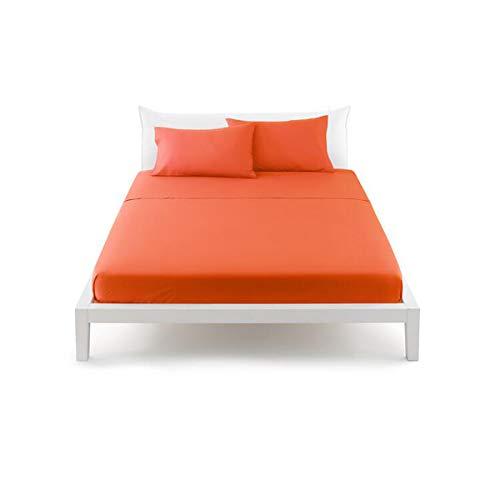 Bassetti - bassetti perfetto pop color lenzuolo con angoli sganciabili singolo - arancione-1965