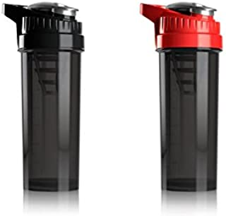 Cyclone Cup Blender Shaker Bottle: 32 Ounce Shake Mixer Bottles for Protein Shakes a Protein Shaker Bottle, Shake Mixer Bottle - Mixer Cup Set of 2 Black and Red