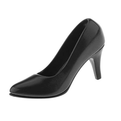 Hellery 1:6 Zapatos de Oficina de tacn Alto de Moda clsica Bomba de Aguja para 12 Pulgadas HT OB OD Kumik Figuras de accin CY CG Chica Accesorio de Vestir - Negro