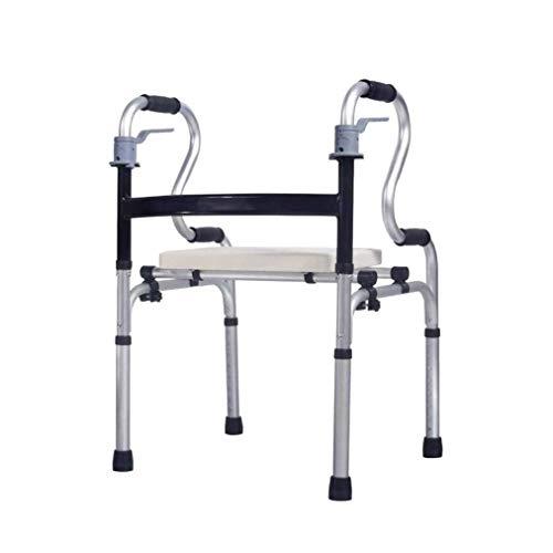 QIYUE Rollator Seat handrem Opvouwbare rollator Medische aluminiumlegering instelbaar instelbaar Standaard rollator for ouderen, ouderen Walker