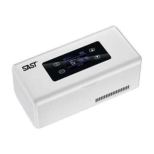 NBWS Koelkast voor in de auto, draagbare medicijnkoelkast en koeler voor op reis, thuis, houdt constante temperatuur drukingen, kleine reisdoos voor medicijnen, 10 x 22 x 9 cm, USB-versie
