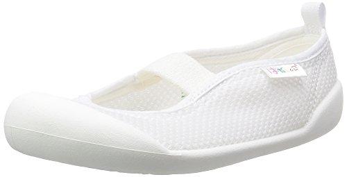 [ムーンスター] 上履き 日本製 14~21cm 0.5cm有 キッズ はだしっこ01 ホワイト 17.0 cm 2E