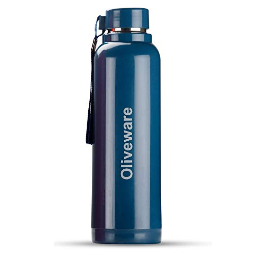 Oliveware Aura Insulated Steel Water Bottle 690 ML (Blue)