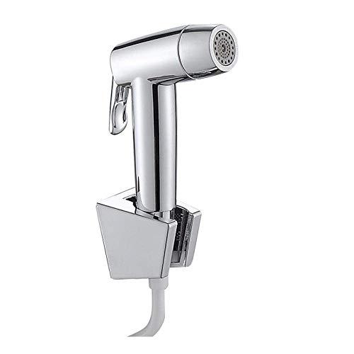 BINGFANG-W Bidé Handheld Aspersión - Bidé Conjunto electrochapada presurizado WC WC Companion Pistola de pulverización Conjunto de Tres Piezas grifos